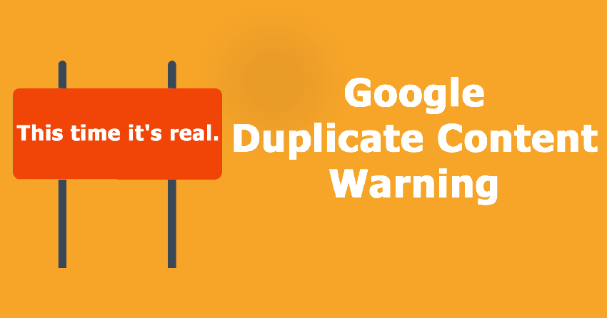 An article about duplicate content